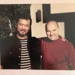 Dr ジェリーブランチ と 柴﨑 1998年の写真